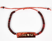 Load image into Gallery viewer, Love All Adjustable Beaded Friendship Bracelet image 2