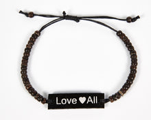 Load image into Gallery viewer, Love All Adjustable Beaded Friendship Bracelet image 4