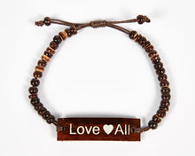 Load image into Gallery viewer, Love All Adjustable Beaded Friendship Bracelet image 6