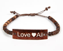 Load image into Gallery viewer, Love All Adjustable Beaded Friendship Bracelet image 7