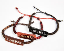 Load image into Gallery viewer, Love All Adjustable Beaded Friendship Bracelet image 1