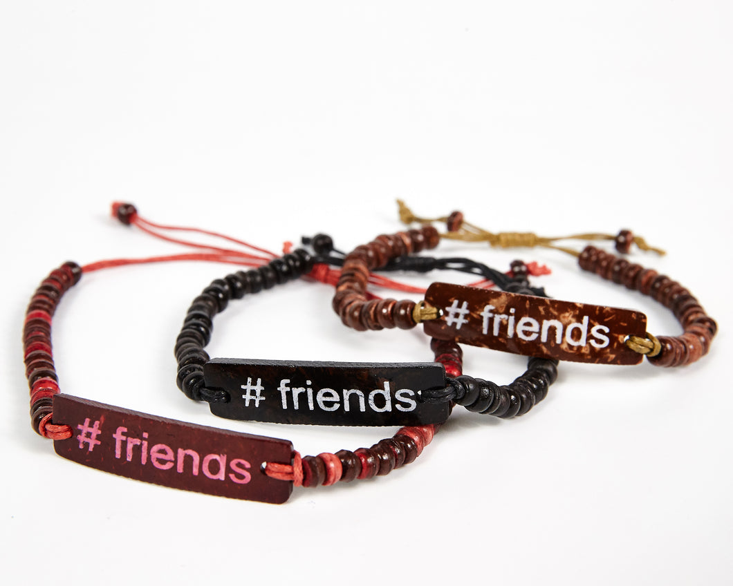 #Friends Adjustable Beaded Friendship Bracelet
