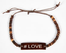 Load image into Gallery viewer, #Love Adjustable Beaded Friendship Bracelet image 2