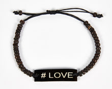 Load image into Gallery viewer, #Love Adjustable Beaded Friendship Bracelet image 6