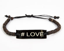 Load image into Gallery viewer, #Love Adjustable Beaded Friendship Bracelet image 7