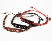 Load image into Gallery viewer, #Love Adjustable Beaded Friendship Bracelet image 1