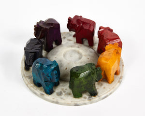 Elephants Seven Chakra Colour Soapstone Incense Holder image 6