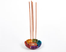 Load image into Gallery viewer, Seven Chakra Colour Soapstone Incense Holder image 2