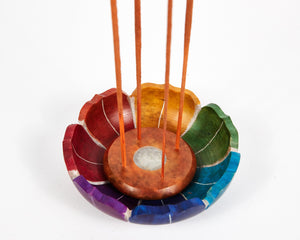 Seven Chakra Colour Soapstone Incense Holder image 6