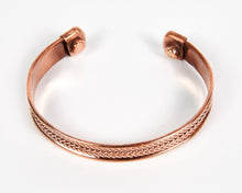 Load image into Gallery viewer, Triple Twist Decorative Pure Copper Magnet Cuff Bracelet image 2