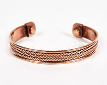 Load image into Gallery viewer, Triple Twist Decorative Pure Copper Magnet Cuff Bracelet image 1