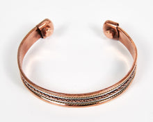 Load image into Gallery viewer, Single Twist Decorative Pure Copper Magnet Cuff Bracelet image 2