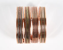 Load image into Gallery viewer, Triple Twist Decorative Pure Copper Magnet Cuff Bracelet image 5
