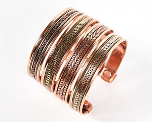 Triple Twist Decorative Pure Copper Magnet Cuff Bracelet image 7