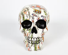 Load image into Gallery viewer, White Tattoo Decorative Skull, Decor Ornament, Gothic, Biker, Halloween, Day of the Dead, Sculpture
