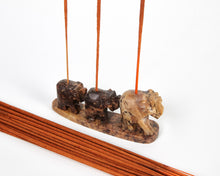 Load image into Gallery viewer, Three Elephants Soapstone Incense Holder, Incense Burner, Ash Catcher + 20 Free Vegan Friendly Incense Sticks