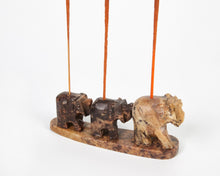 Load image into Gallery viewer, Three Elephants Soapstone Incense Holder image 1