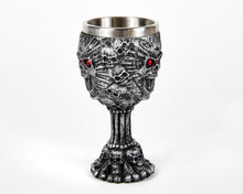 Load image into Gallery viewer, Skull Goblet With Red Eyes, Wine Glass, Ritualistic, Drinkware, Tumbler, Ritual