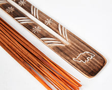 Load image into Gallery viewer, Elephant Symbol Mango Wood Incense Holder image 2