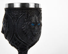 Load image into Gallery viewer, Wolf Face Goblet, Wine Glass, Ritualistic, Drinkware, Tumbler, Ritual