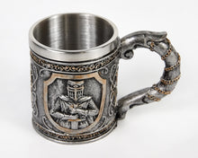 Load image into Gallery viewer, Knights Emblem Tankard Mug, Coffee Cup, Ritualistic, Drinkware, Tumbler, Ritual
