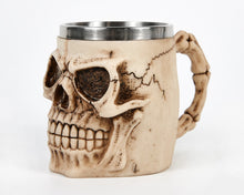 Load image into Gallery viewer, Ivory Skull Face Tankard Mug image 1