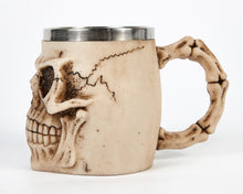 Load image into Gallery viewer, Ivory Skull Face Tankard Mug image 2