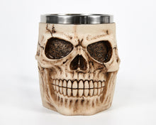 Load image into Gallery viewer, Ivory Skull Face Tankard Mug image 3