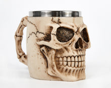 Load image into Gallery viewer, Ivory Skull Face Tankard Mug image 4
