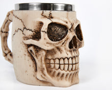 Load image into Gallery viewer, Ivory Skull Face Tankard Mug image 6