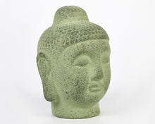 Load image into Gallery viewer, Green Terracotta Buddha Head, Buddha Ornament