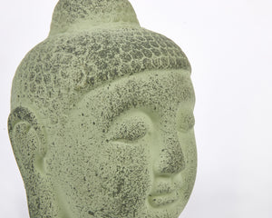 Green Terracotta Buddha Head, Buddha Ornament