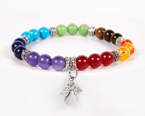 Angel Decorative Seven Chakras Bracelet image 1