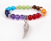 Load image into Gallery viewer, Wing Decorative Seven Chakras Bracelet
