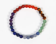 Load image into Gallery viewer, Round Beads Seven Chakras Bracelet