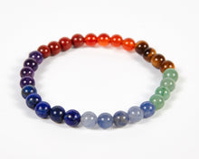 Load image into Gallery viewer, Round Beads Seven Chakras Bracelet image 3
