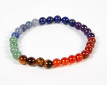 Load image into Gallery viewer, Round Beads Seven Chakras Bracelet image 1