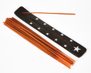Star Symbol Black Mango Wood Incense Holder image 3