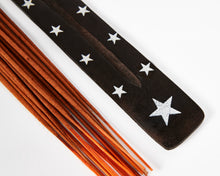 Load image into Gallery viewer, Star Symbol Black Mango Wood Incense Holder image 2