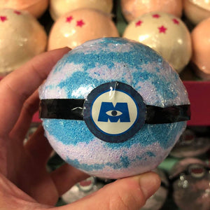 Monsters, Inc. Inspired Bath Bomb With Surprise Keychain / Keyring Inside and a Boo Fragrance.