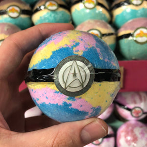 Star Trek Inspired Galaxy Bath Bomb With Surprise Minifigure Inside and an Apollo Fragrance.