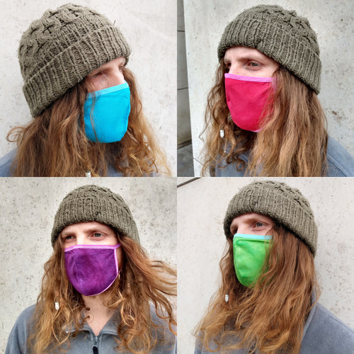 Mens Multicolour Face Mask, Washable Reusable Breathable Cotton Face Covering