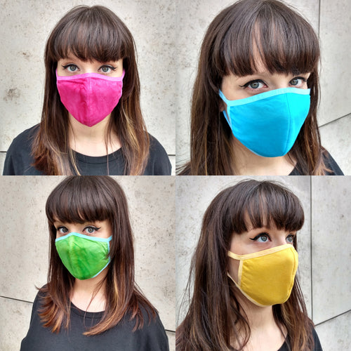 Multicolour Unisex Face Mask, Washable Reusable Breathable Cotton Face Covering