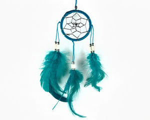 Dream Catcher With Bone Beads Turquoise 6cm
