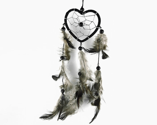Heart Dream Catcher Black