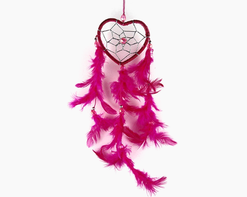 Heart Dream Catcher Pink