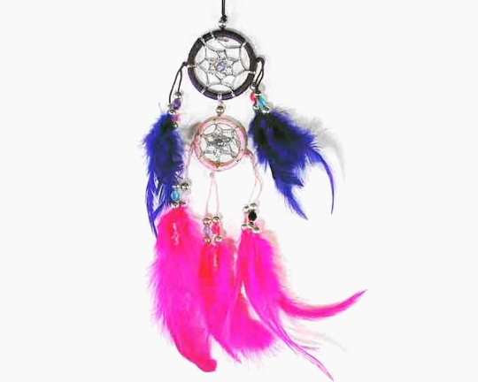 Black, Pink and Purple Double Dreamcatcher