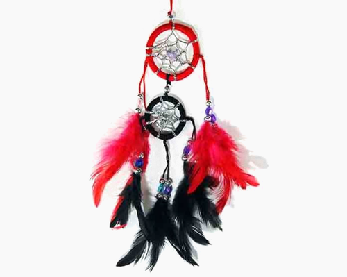 Red & Black Double Dreamcatcher
