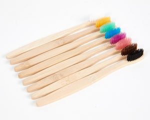 Natural Coloured Bamboo Toothbrushes image 3