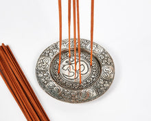 Load image into Gallery viewer, Ohm Round Plate 5 Hole Aluminium Incense Burner image 3